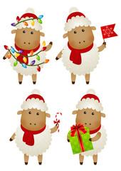 Set of New Year sheep