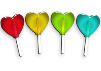 Sucettes multicolores