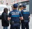 canvas print picture - Police municipale
