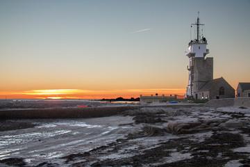 Soleil couchant à Saint Guénolé, Finistère, Bretagne