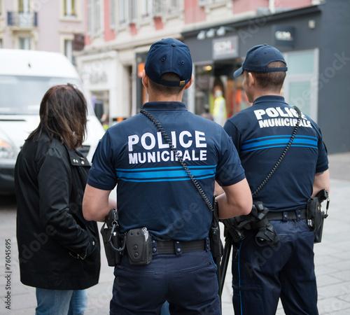 canvas print picture Police municipale