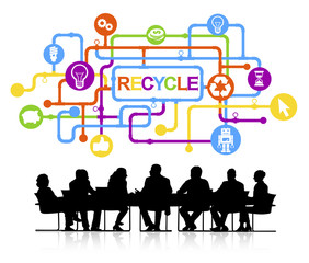 Group Business People Meeting Recycle Concept