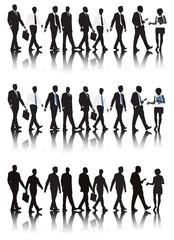 Vector of Business People Walking