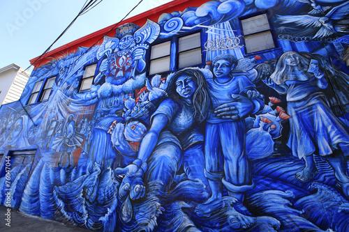 Fotobehang San Francisco Street art de San Francisco