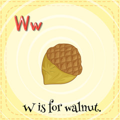 A letter W for walnut