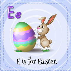 A letter E for Easter