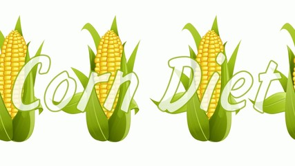 corn on a white background. diet