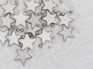 silver stars background