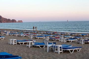 Alanya - Late afternoon on Cleopatra Beach. Turkey