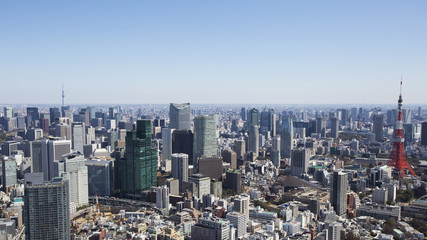 Tokyo Tower and city skyline in Tokyo, Japan