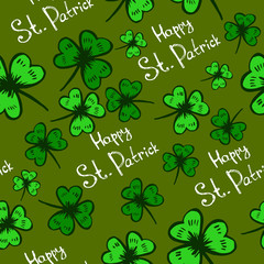Seamless Background for Patrick's day