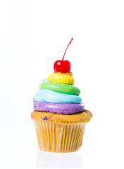 Velvet cupcakes isolate