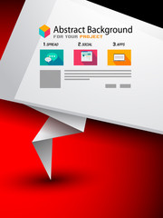 Flyer Design,  Brochure Layout orTechnology Background