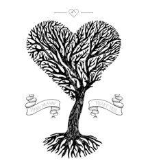 Tree crown like heart
