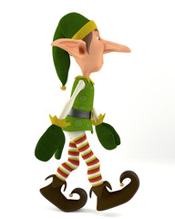 elf walking side view