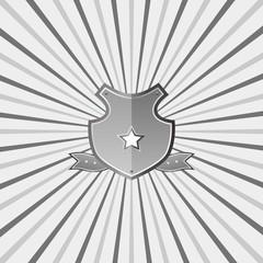 vintage shield template
