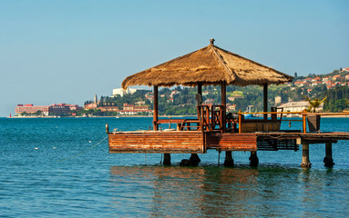 Town Portoroz, adriatic sea, Slovenia