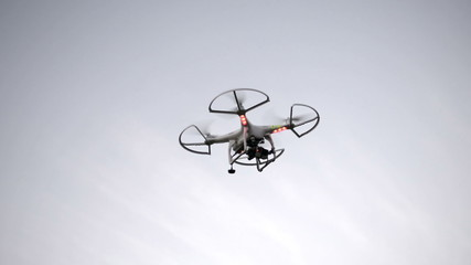 HD footage of a Quadcopter hovering in flight