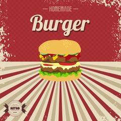 retro fast food page template