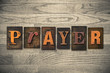 Prayer Concept Wooden Letterpress Type - 76054402