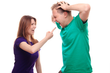 Boyfriend and girlfriend arguing