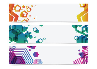 abstract geometry colorful banner header background