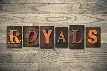 Royals Concept Wooden Letterpress Type