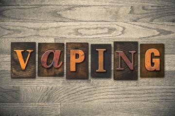 Vaping Concept Wooden Letterpress Type