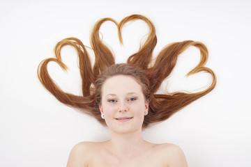 heart shape hair
