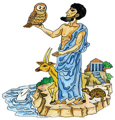 Ancient Greek and animals mascots