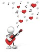 Leinwanddruck Bild - little sketchy man playing guitar - lovesong