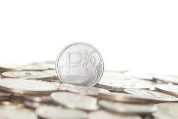 New russian ruble coin.
