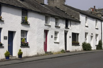 a row of pretty country  cottages