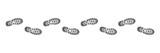 Spur, Schuhabdruck mit Profil, Vektor, schwarz, freigestellt