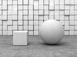 white sphere