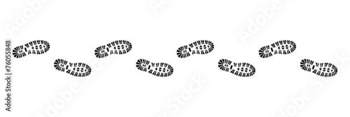 Spur, Schuhabdruck mit Profil, Vektor, schwarz, freigestellt - 76055848