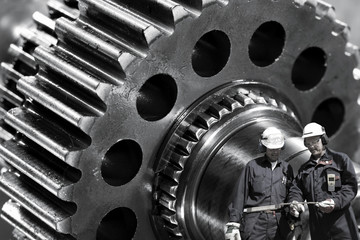 metal workers and cogwheels machinery, industrial parts