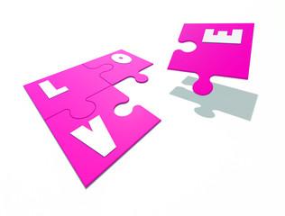 love abstract jigsaw