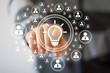 Button idea bulb business icon web communication