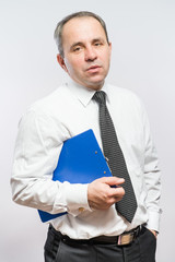 man  with clipboard in his hand
