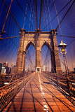 Fototapety Brooklyn Bridge and Manhattan New York City US