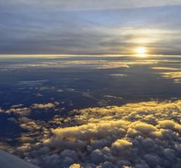 Abendrot auf 12000m Höhe