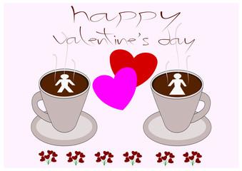 coffee shop valentine's day vector