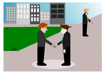 Business negotiations, Vector cartoon concept