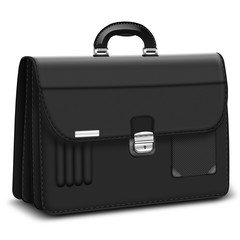 Aktentasche, Aktenkoffer elegant in schwarz Carbonoptik, freiges