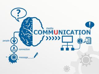 Communication concept and social media art.