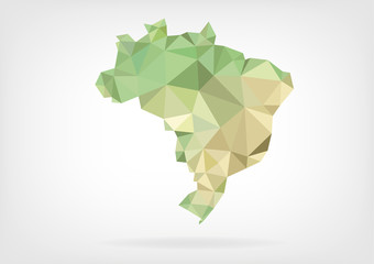 Low Poly map of Brazil