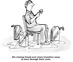 Startup Burns Through Cash