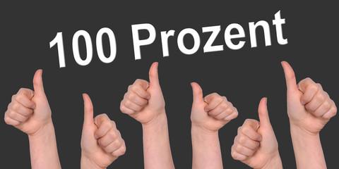 100 prozent, ziel