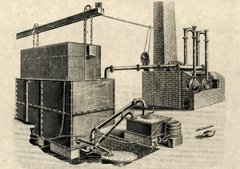 Manufacturing of fuel gas (beginning of 19-th century)